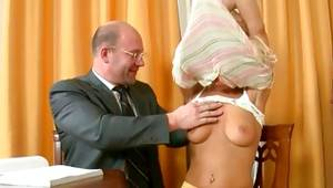Turned on old and toddler couple where lady is undressing herself at one time a gent