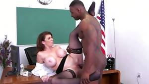 Watch dirty interracial thrusting in a office